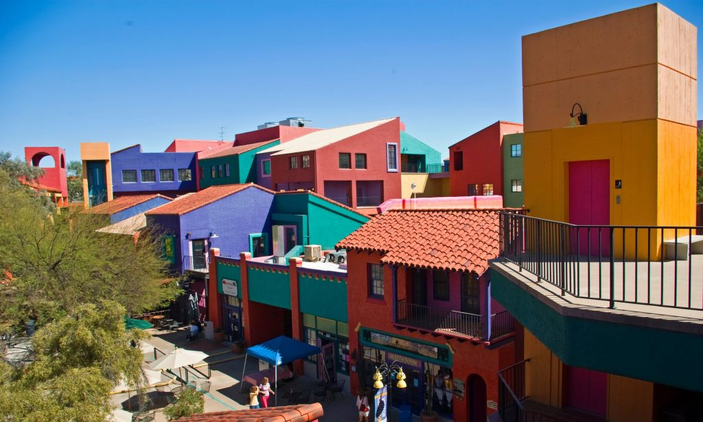 Paint the town red (and blue and green) … Downtown Tucson is becoming a foodie destination. Photograph: Alamy